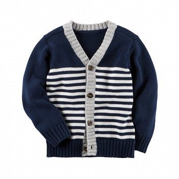Carter's Striped Button-Front Cardigan