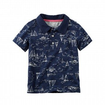 Carter's Sailboat Slub Jersey Polo