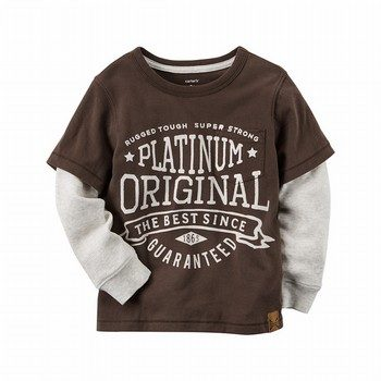 Carter's Layered-Look Platinum Original Graphic Tee
