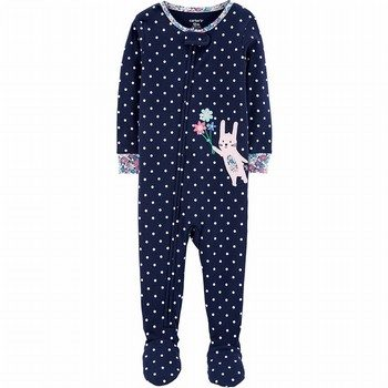 Carter's 1PC Bunny Snug Fit Cotton Footie PJs