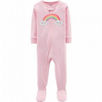Carter's 1PC Rainbow Snug Fit Cotton Footie PJs