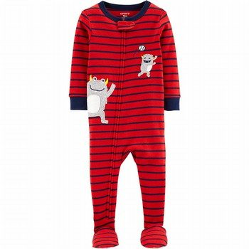 Carter's 1PC Monster Baseball Snug Fit Cotton Footie PJs