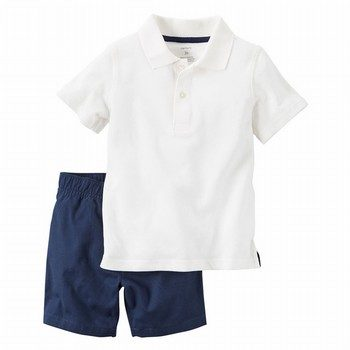 Carter's 2PC Polo & Short Uniform Set