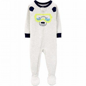Carter's 1PC Bear Snug Fit Cotton Footie PJs