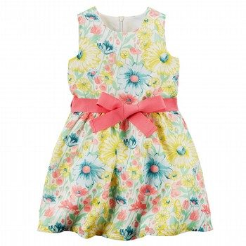 Carter's Floral Crepe Dress