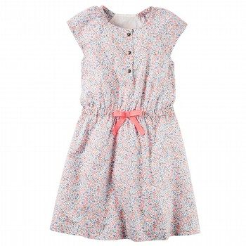 Carter's Tiny Flower Poplin Dress