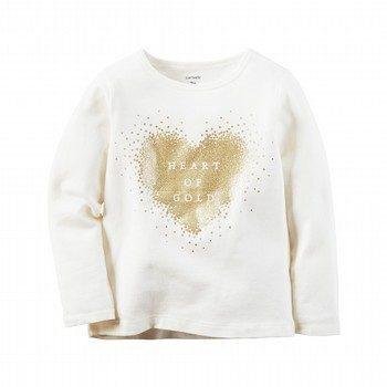 Carter's Long-Sleeve Heart Of Gold Graphic Tee