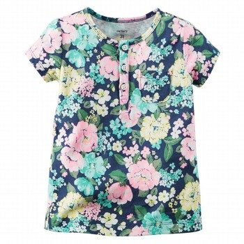 Carter's Print Pocket S/S top