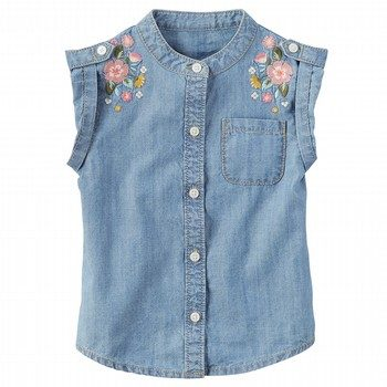 Carter's Embroidered Denim Tank