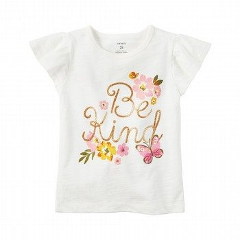 Carter's Flutter-Sleeve Be Kind Graphic Tee