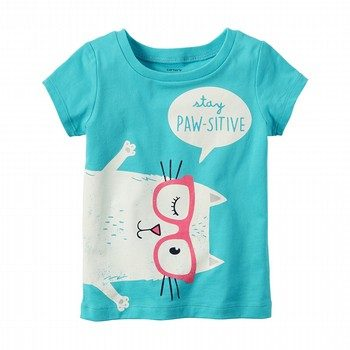 Carter's Stay Paw-sitive Graphic Tee