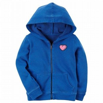 Carter's Garment-Dyed Patch Zip-Up Hoodie
