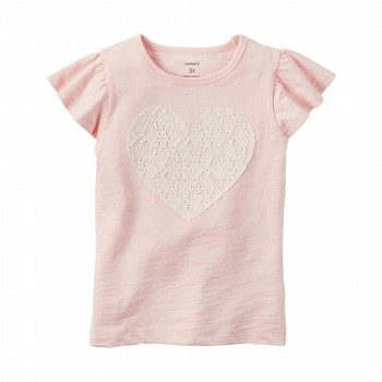 Carter's Flutter-Sleeve Heart Shirt