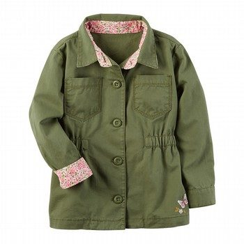 Carter's Embroidered Button-Front Jacket