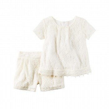 Carter's 2PC Floral Lace Top & Short Set