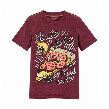 Carter's Skateboard Pizza Snow Yarn Tee