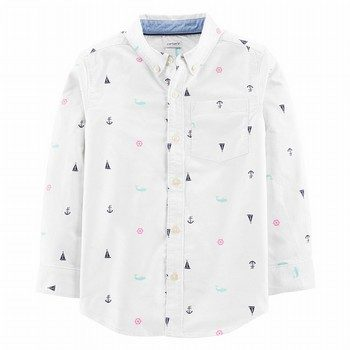 Carters Sailboat Oxford Button-Front Shirt