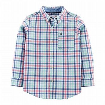 Carters Plaid Poplin Button-Front Shirt