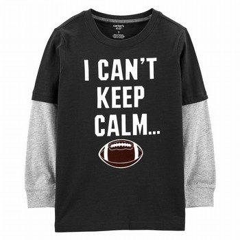 Carter's Game Day Football Layered-Look Tee
