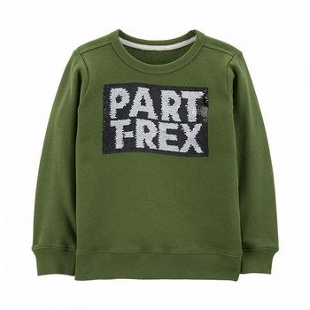 Carter's T-Rex Flip Sequin French Terry Pullover