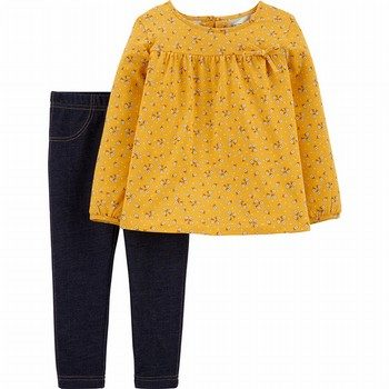 Carter's 2PC Floral Top and Jegging Set