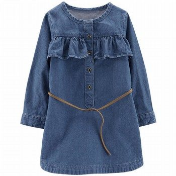 Carter's Denim Belted Dress