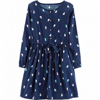 Carter's Cat Sateen Dress