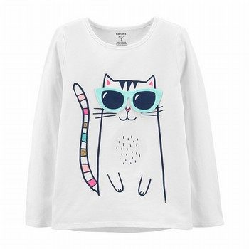 Carter's Cat Peek-A-Boo Flap Tee