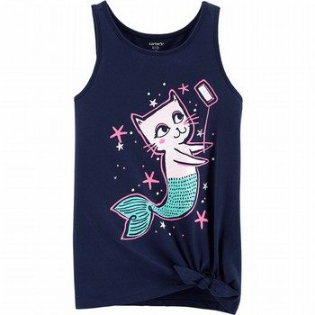 Carter's Cat Mermaid Selfie Tie Waist Tank
