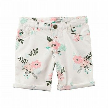 Carter's Floral Twill Shorts