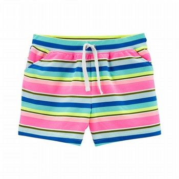 Carter's Striped Pull-On French Terry Shorts