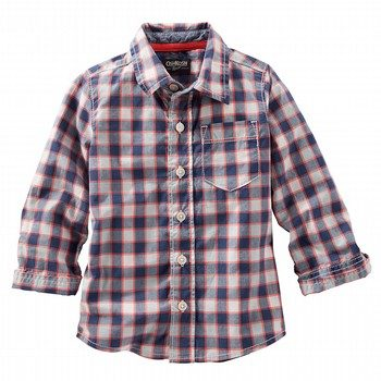 OshKosh L/S Plaid Shirt