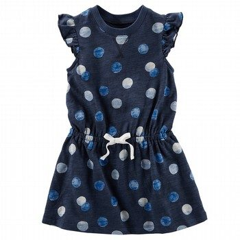 Oshkosh Flutter Sleeve Dot Dress