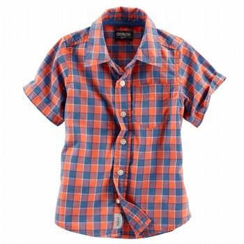 OshKosh S/S Plaid Shirt