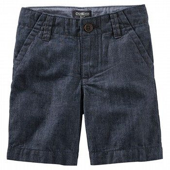 OshKosh Chambray Flat-Front Shorts