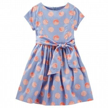Oshkosh S/S Pleat Print Dress