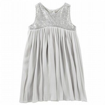 OshKosh Pleated Sparkle Chiffon Dress