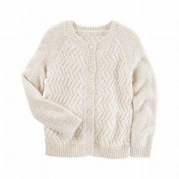 OshKosh Open-Weave Sparkle Cardi