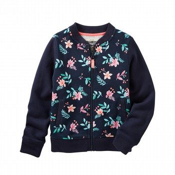 OshKosh Floral French Terry Bomber Jacket