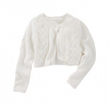 OshKosh Cropped Pointelle Cardi