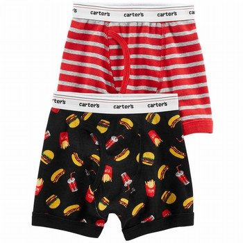 Carter's Carters Boy 2PK Boxer Black Fast Food