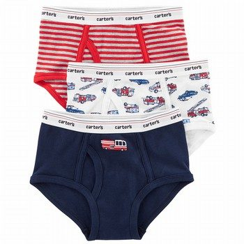 Carter's Boy 3pk Brief Red Rescue