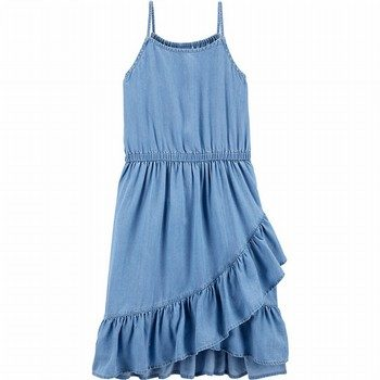 OshKosh B'gosh Chambray Ruffle Midi Dress