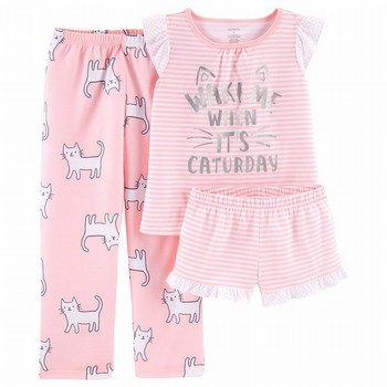 Carter's 3PC Cat PJ Set