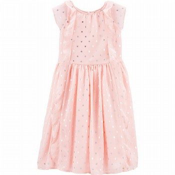 OshKosh B'gosh Polka Dot Ruffle Front Dress
