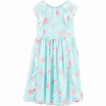 OshKosh B'gosh Floral Ruffle Front Dress