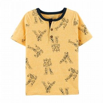 Carter's Robot Snow Yarn Henley