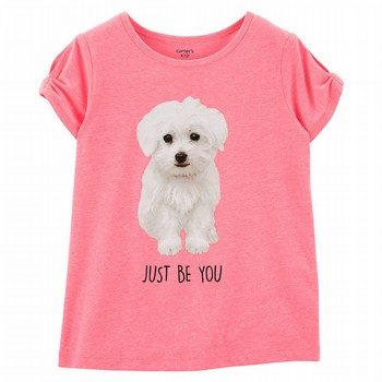 Carter's Neon Dog Split Shoulder Tee