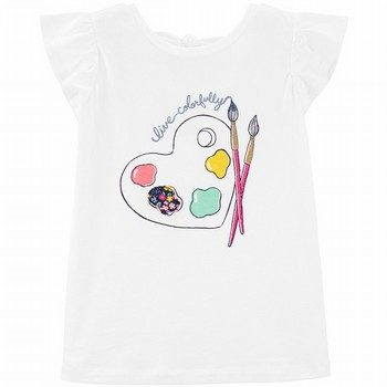 Carter's Live Colorfully Paint Bow Back Tee