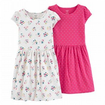 Carter's 2PK Floral & Polka Dot Jersey Dress Set